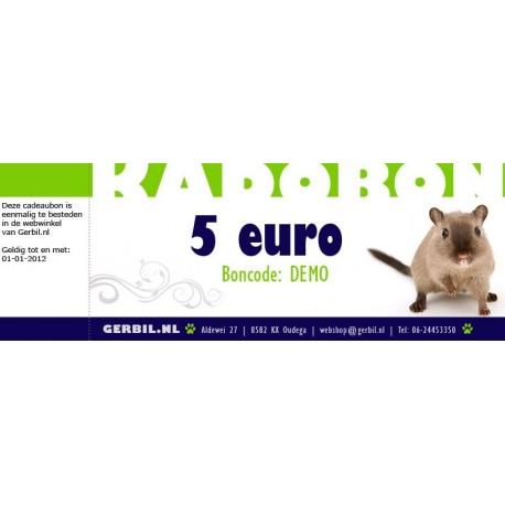 Cadeaubon (5 euro)