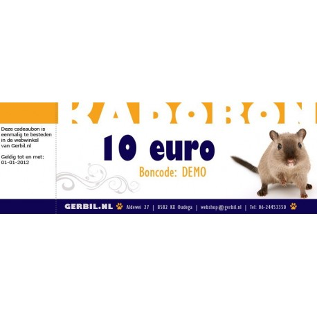 Cadeaubon (10 euro)