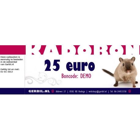 Cadeaubon (25 euro)