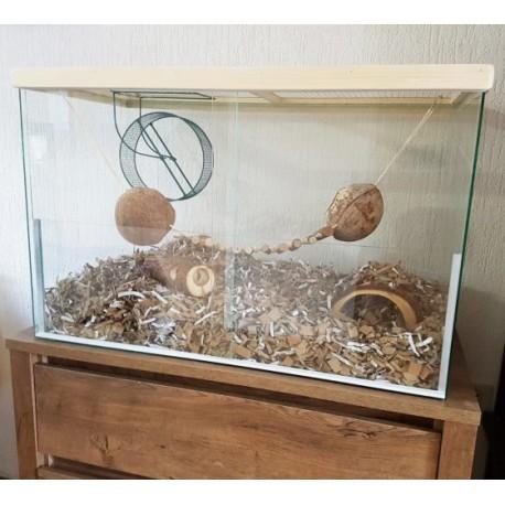 Gerbil Terrarium (schuifdeurtjes) 100x40x50